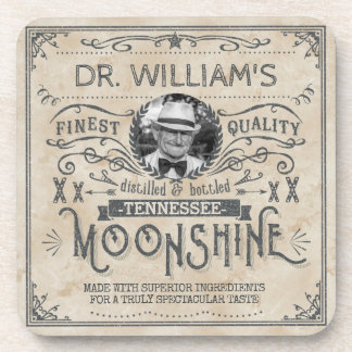 Funny Vintage Moonshine Hillbilly Medicine Custom Drink Coasters
