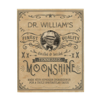 Funny Vintage Moonshine Hillbilly Medicine Custom Wood Prints