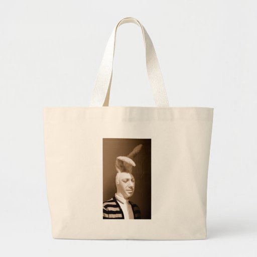 Funny vintage playboy design canvas bags