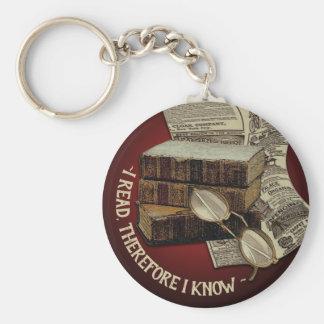 Funny Vintage Reading Key Ring