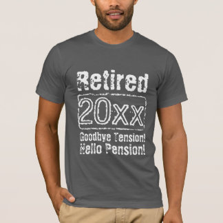 Funny vintage retirement t shirts for retired men