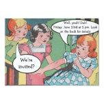 Funny Vintage Retro Cartoon Comic Party 13 Cm X 18 Cm Invitation Card