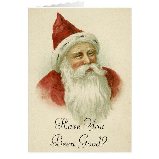 Funny Vintage Santa Christmas Card