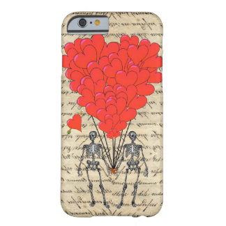 Funny vintage Skeleton and red heart iPhone 6 Case