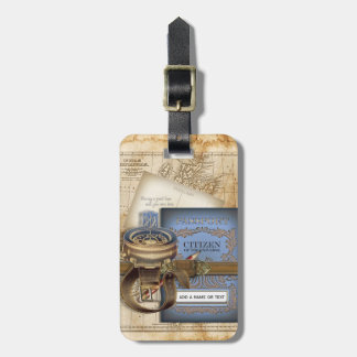 Funny Vintage Steampunk Excursion Travel Bag Tags
