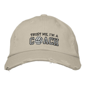 Funny Volleyball Coach Embroidered Hat