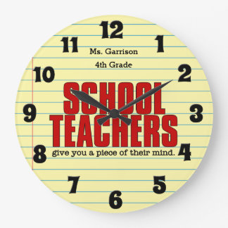 Funny Wall Clock for Schoolteachers