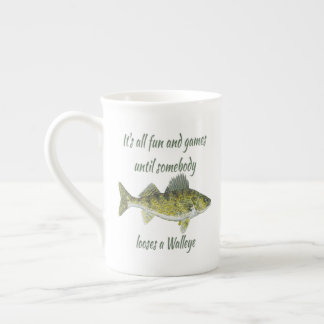 Funny Walleye Fishing Quote Tea Cup