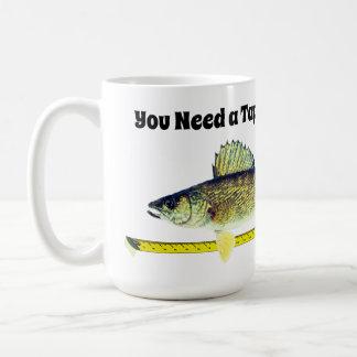 Funny Walleye Pike and Tape Measure Coffee Mug
