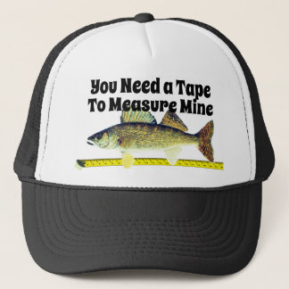 Funny Walleye Pike and Tape Measure Trucker Hat