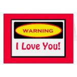 Funny Warning Collecting Greeting Card