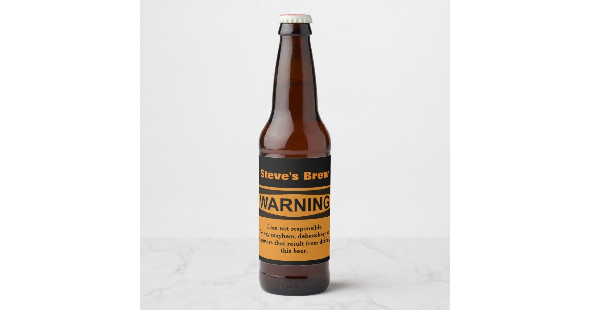 It's just a graphic of Vibrant Funny Beer Warning Labels