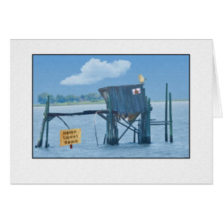 Funny Waterfront Shack Card