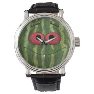Funny Watermelon Emoticon Watch