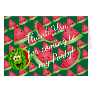Funny Watermelon Kid's Birthday - Thank You Card