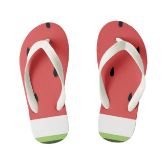 Funny Watermelon Kid's Flip Flops Thongs