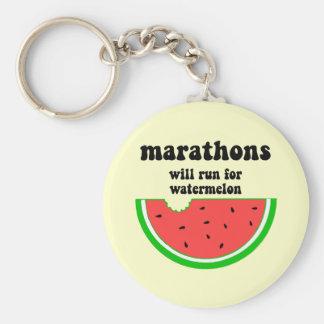 Funny watermelon marathon key ring