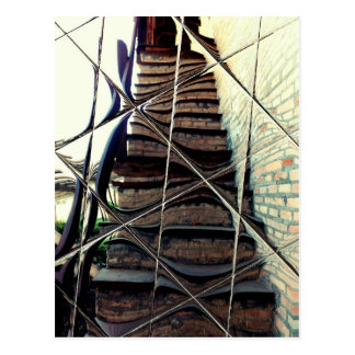 Funny Wavy Stairs Postcard