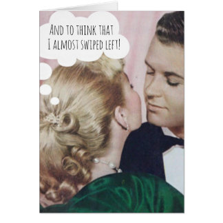 Funny Wedding Card for Couple Who Met Online
