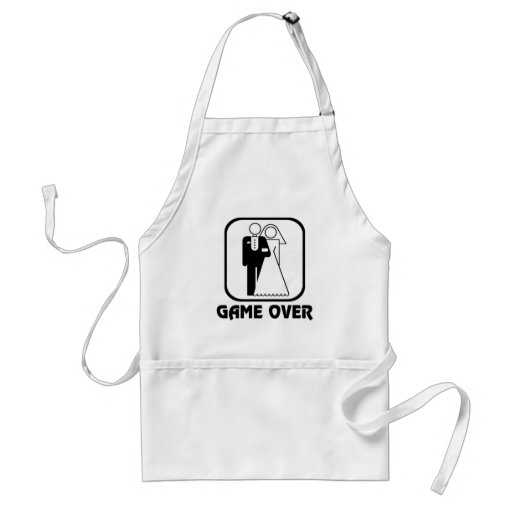 Funny wedding Game Over Aprons