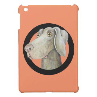 Funny weimaraner dog watercolor painting iPad mini cover