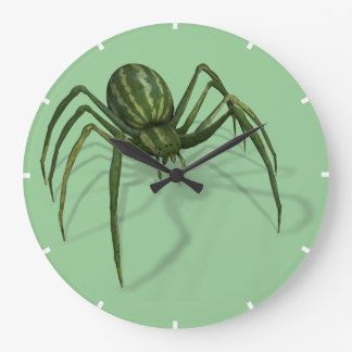 Funny Weird WaterMelon Spider Large Clock