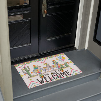 Funny Welcome Mat | Llama Just Say Welcome