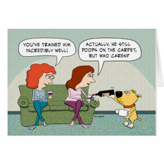 Funny Well-Trained, Wine-Serving Dog Birthday Greeting Card