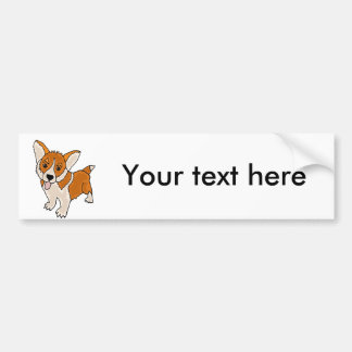 Funny Welsh Corgi Puppy Dog Bumper Sticker