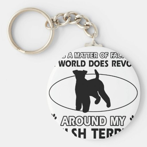Funny welsh terrier designs keychains