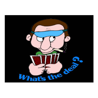 Funny What s The Deal T-shirts Gifts Postcard