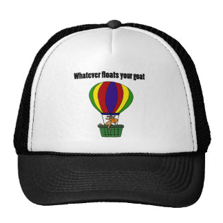 Funny Whatever Floats your Goat Cartoon Cap