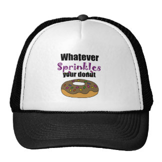 Funny Whatever Sprinkles Your Donut Art Cap