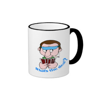 Funny What's The Deal T-shirts Gifts Ringer Mug