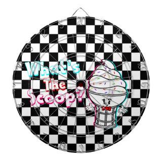 Funny What's The Scoop IceCream Checker Dartboard