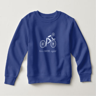 Funny wheel cyclist blue pun sweatshirt