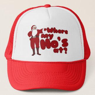 Funny Where my Ho's At Santa Trucker Hat