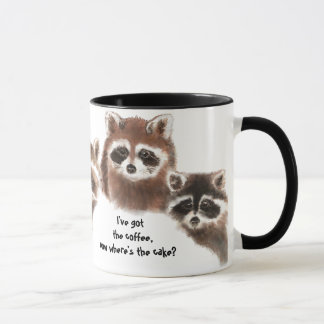 Funny, Where's the Cake, Raccoon Mug, Animal Mug