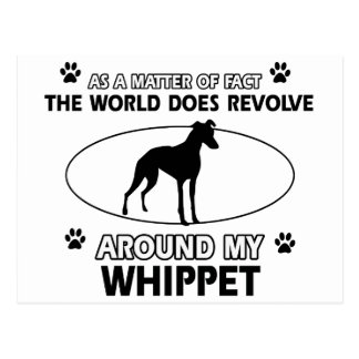 Funny whippet designs postcard