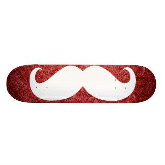 Funny white mustache 21 skateboard decks
