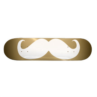 Funny white mustache 4 skate decks
