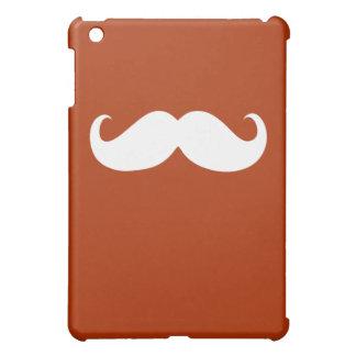 Funny White Mustache on Orange Case For The iPad Mini