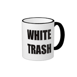 Funny White Trash T-shirts Gifts Ringer Mug
