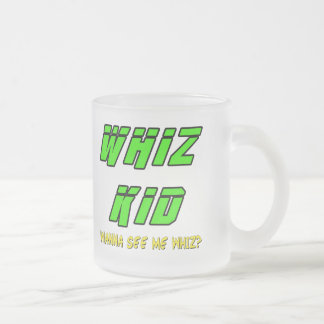 Funny Whiz Kid T-shirts Gifts Frosted Glass Mug