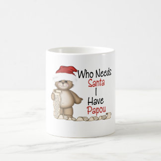 Funny Who Needs Santa Papou Coffee Mug