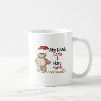 Funny Who Needs Santa Yiayia Mugs