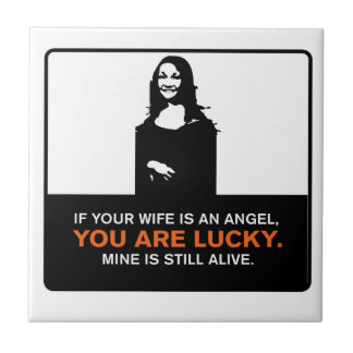 Funny Wife Small Square Tile