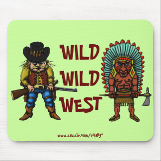 Funny wild west mousepad
