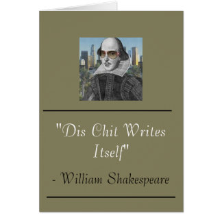 Funny William Shakespeare Card