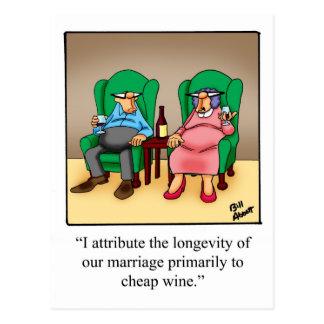 Funny Wine Cartoon Gift! Postcard